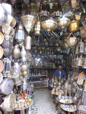 medina of fez metal worked stall