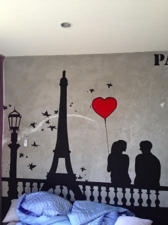 Cool Paris Drawing On The Wall Of The Bedroom Picture Of Majestic