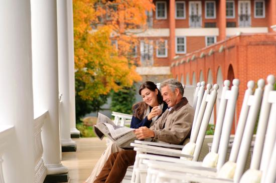 Hot Springs, VA: Front porch rocking chairs