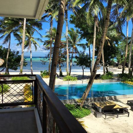Rieseling Boracay Beach Resort: Vista del hotel desde mi habitación!