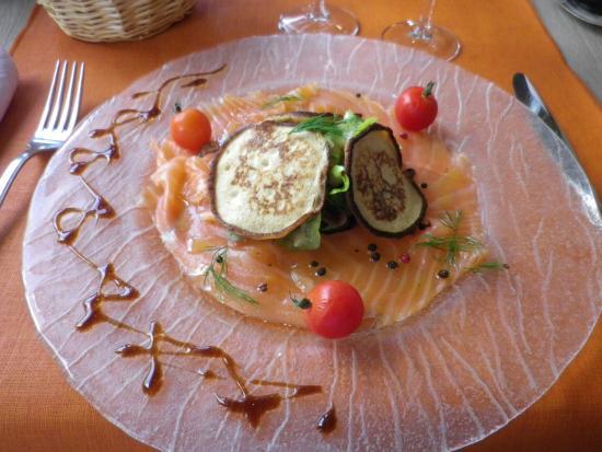 Hotel Restaurant Rome: Plat proposé au menu (entrée)