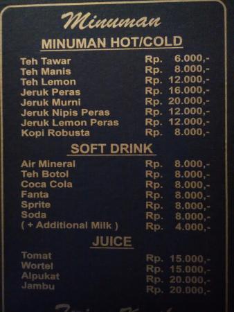 Warung Sop Buntut H. Soedik : Menu Minuman