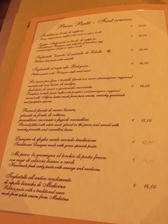 All'Osteria Bottega: Primi!