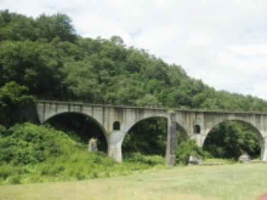 Megane Bridge: 電車はいませんが・・・