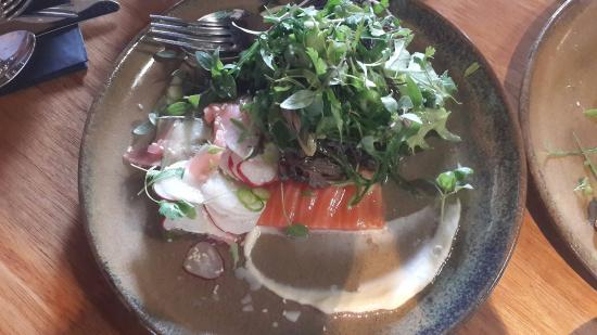 DUO Dining Room Bar Cured Salmon Salad