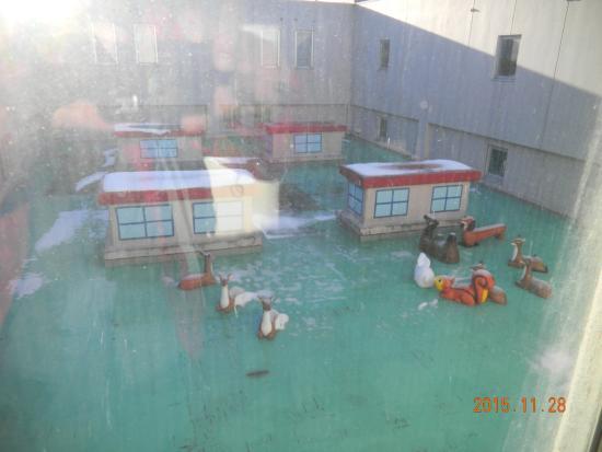 Hotel Sunplaza : 三階屋上の坪庭