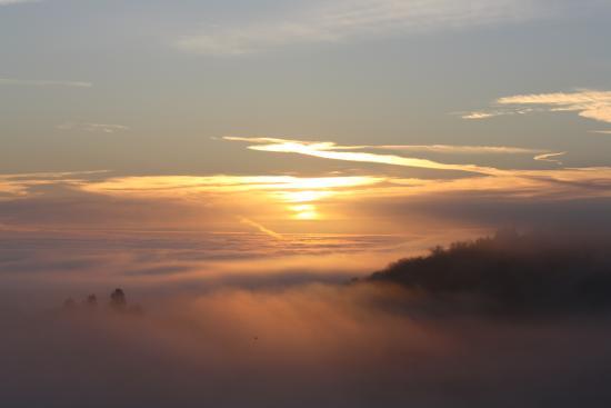 La Combe Chaudaire : un matin brumeux