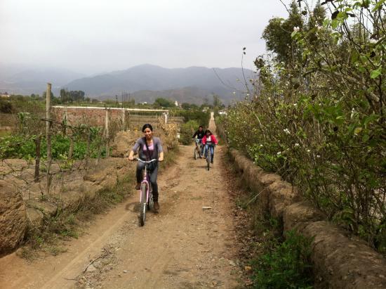 San Luis de Canete, Peru: Paseo en bicicleta