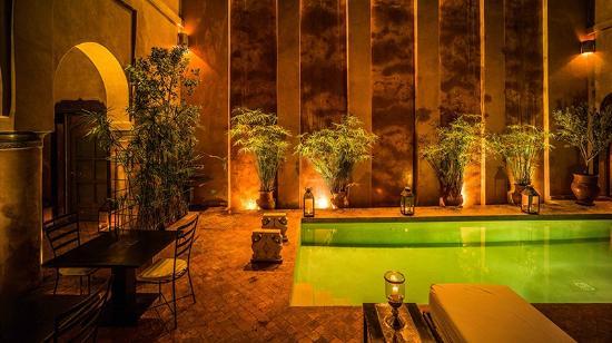Riad Noir d'Ivoire: Summer Courtyard