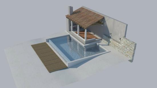 Villa Perka: Pool with bbq porch
