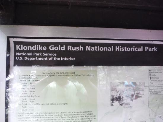 Klondike Gold Rush National Historical Park rugged terrain along t...