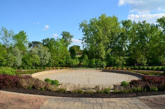 Grove City, OH: View of the labyrinth at Gantz