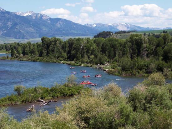 Swan Valley, ID: guests can book local outfitters for floats on the South Fork