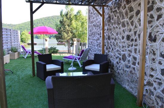 Hotel La Villa du Lac : Terrasse