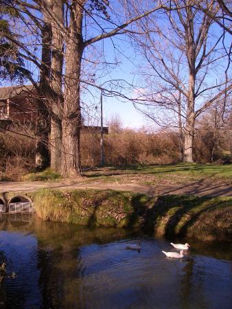 Calldetenes, Spanje: Inicio de la ruta al lado del Molí de la Codina