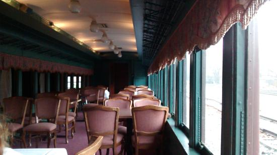 Northumberland, PA: Inside the train car where our lunch and presentation were held.