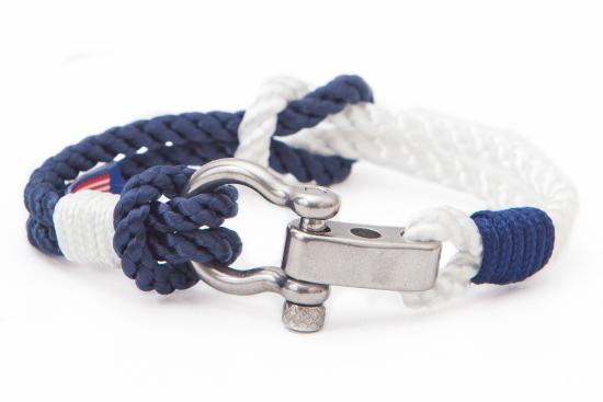 in o rope row sail sailo shackle champagne white bracelet sunshine italy product nautical handmade and bracelets