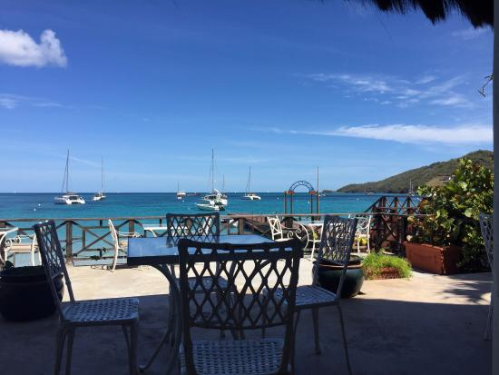 Charlestown, Canouan: breakfast view