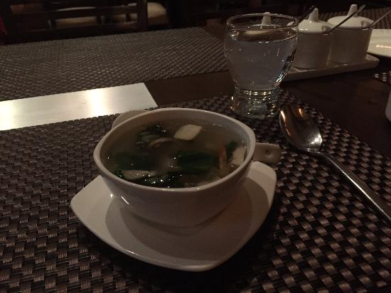 Dine Esty : This was chicken soup with straw mushrooms