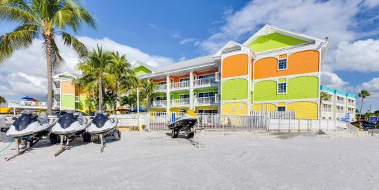 Pierview Hotel Suites Has Jet Skis And Patio Chairs For Guests To