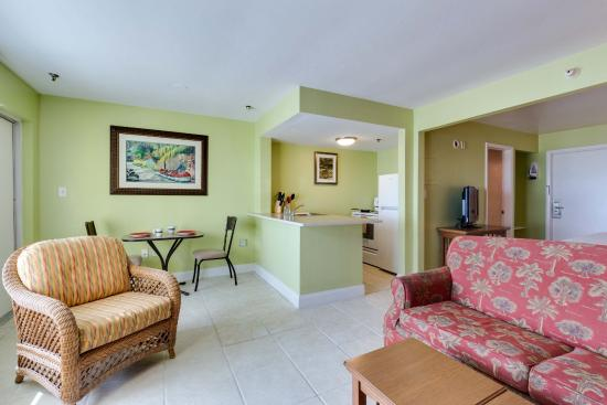 Pierview Hotel Suites Beachfront Have A Full Kitchen Pull Out Sofa And