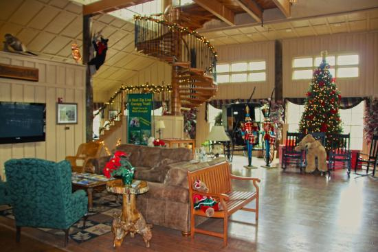 Whitesburg, GA: Main Lodge Decorated for Christmas