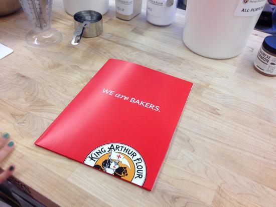 นอร์วิช, เวอร์มอนต์: take home folder with recipes
