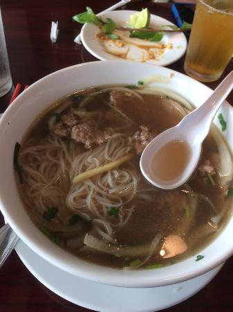 Nice bowl of pho!  This is the small one but more than enough.