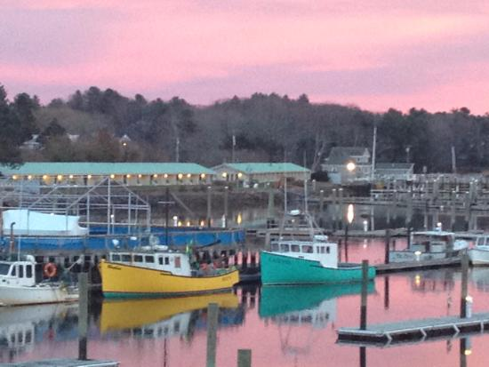 Kennebunk, ME: Sunset from deck