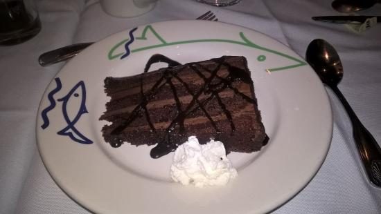 Legal Sea Foods: Chocolate cake dessert at Legal