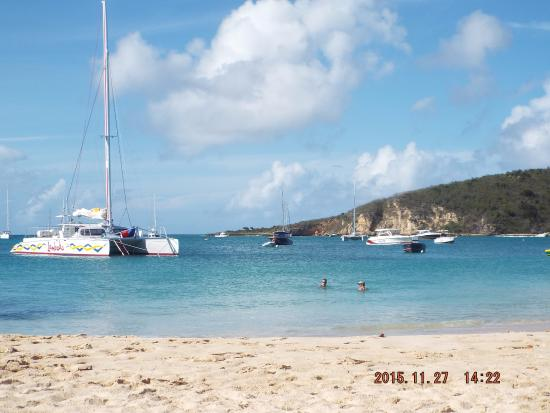 Simpson Bay, St. Maarten-St. Martin: View from the beach at Anguilla