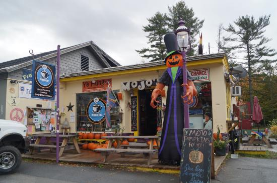 Mojo To Go: The fabulous frontage of Mojo's, ready for Halloween