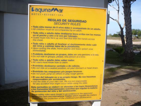 Normas de uso piscina picture of hotel lagunamar for Normas de piscina