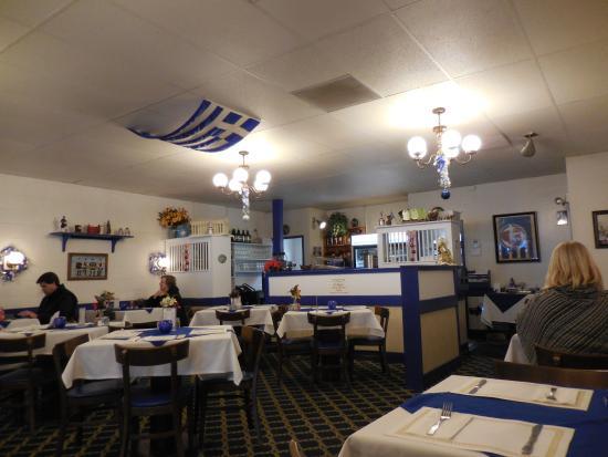 Greek American Family Restaurant Dining Room