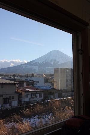 Yamanashi Prefecture, Japón: 車内から見える富士山