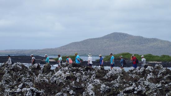 Puerto Villamil, Ecuador: Walk among lava fields