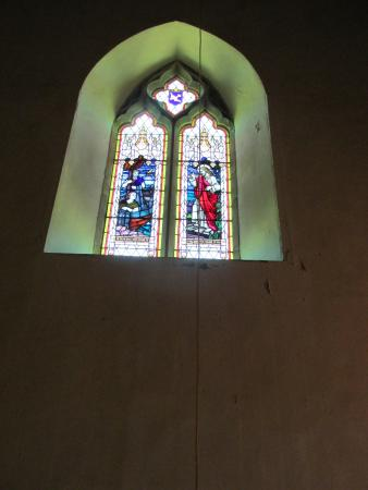 Stained glass window, St John the Baptist Church, Buckland