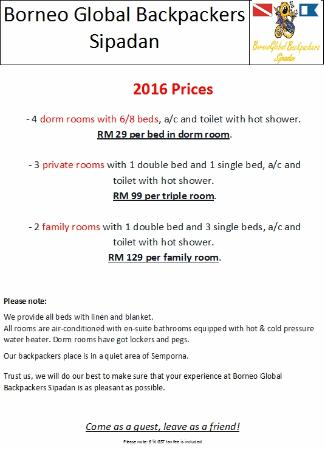 Borneo Global Sipadan Backpackers (Semporna): 2016 Room Prices