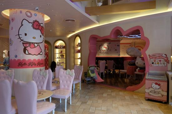 The Interior Picture Of Hello Kitty House Bangkok