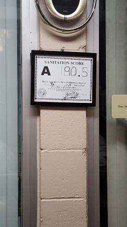 Oxford, Carolina del Norte: Sanitation rating!!!!!
