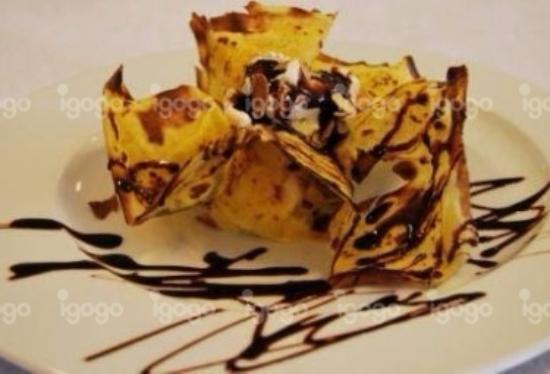 Restaurante Manjar da Helena: Crêpes com gelado e chocolate