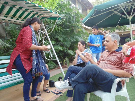 The Karnavati Club: Garden area