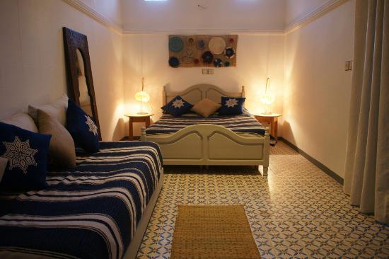 Dar Taddert: Chambre double avec coin salon