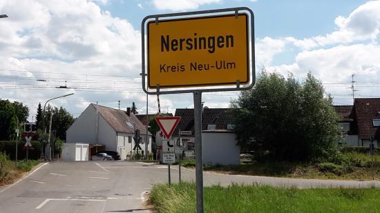 Nersingen, Γερμανία: Ortsschild