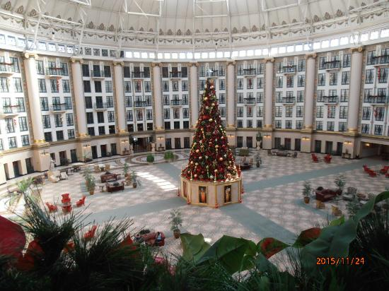 West Baden Springs Hotel >> Atrium With Christmas Tree Picture Of West Baden Springs Hotel