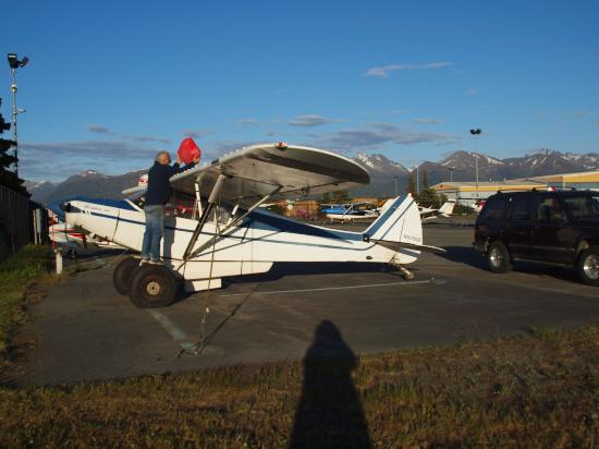 Parked at Merrill Field Airstrip