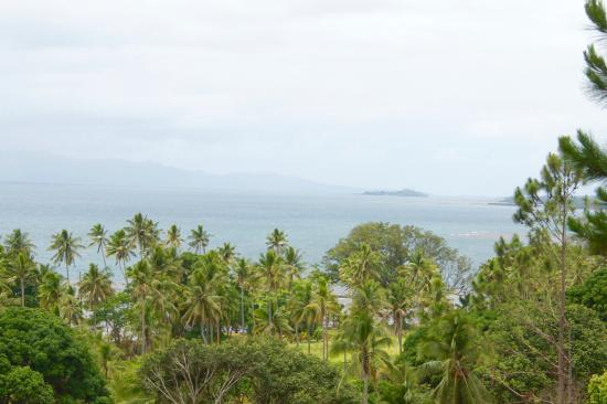 Takalana Bay Resort: View from Takalana Resort on a rainy day