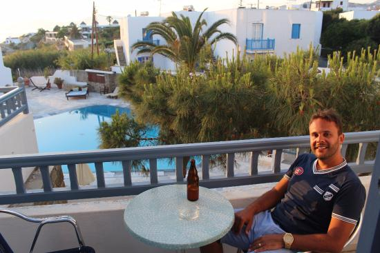 Poseidon Hotel - Suites: Vista da sacada de nosso quarto