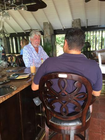 Firefly Hotel Mustique: Stan the man.
