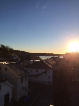 Scandic Grimstad : Utsikt fra terrassen